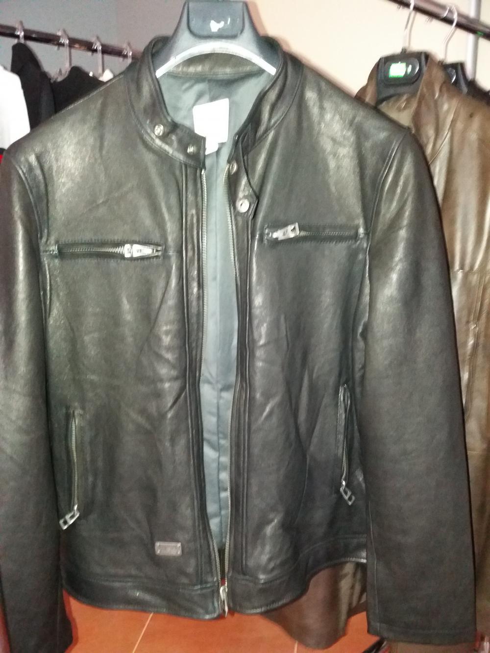 b8fdc58dddc Мотоциклетная кожаная куртка Diesel-480